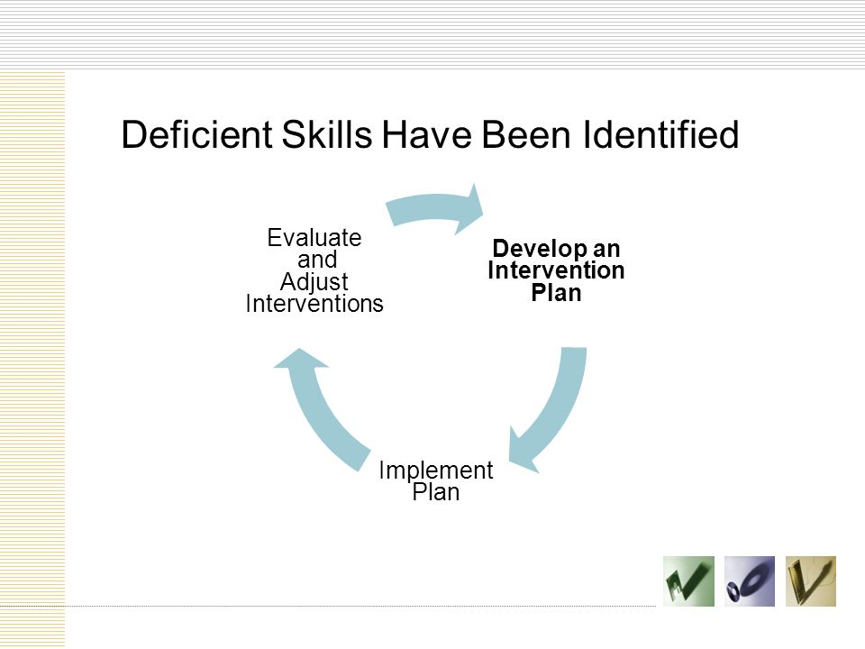 Develop an Intervention Plan