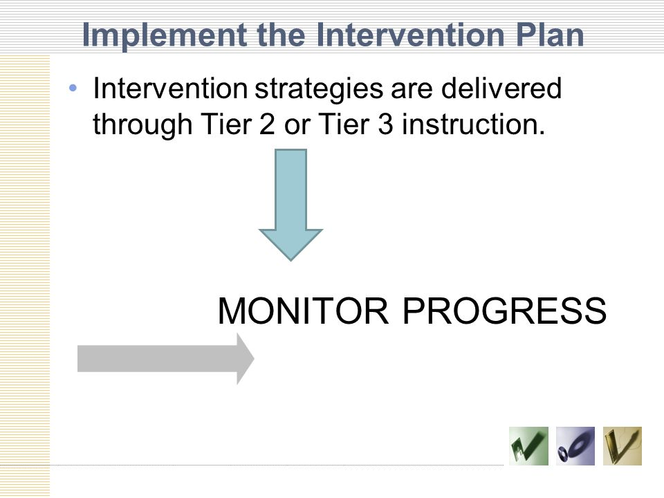 Implement the Intervention Plan