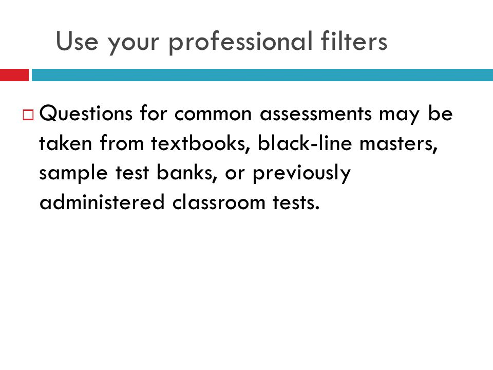 Use your professional filters