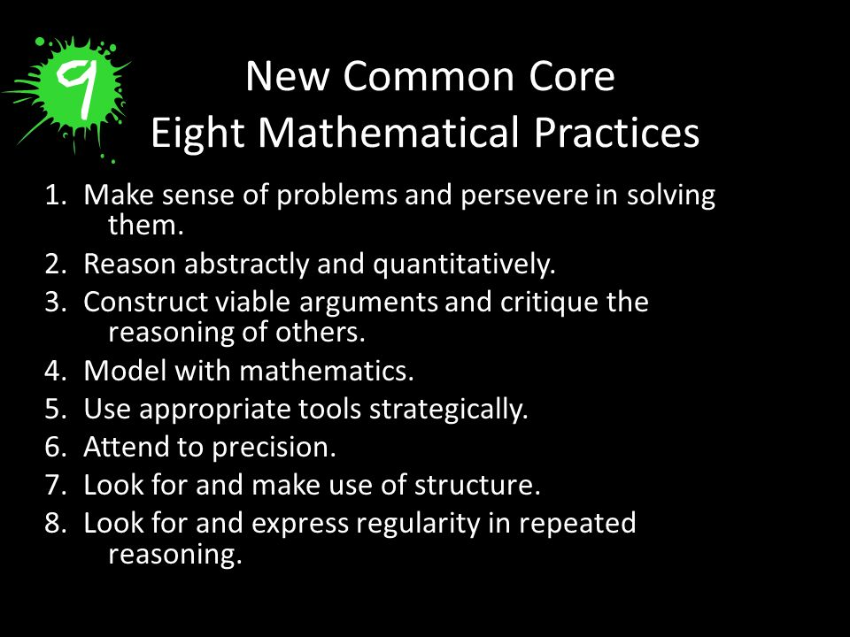 New Common Core Eight Mathematical Practices