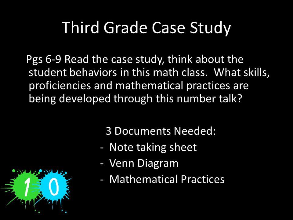 Third Grade Case Study