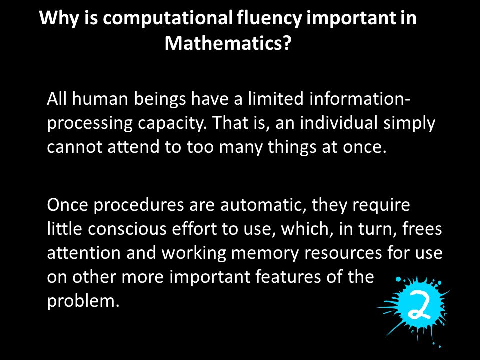 Why is computational fluency important in Mathematics