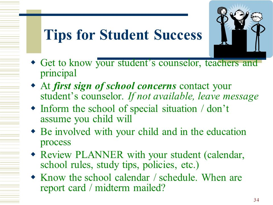 Tips for Student Success