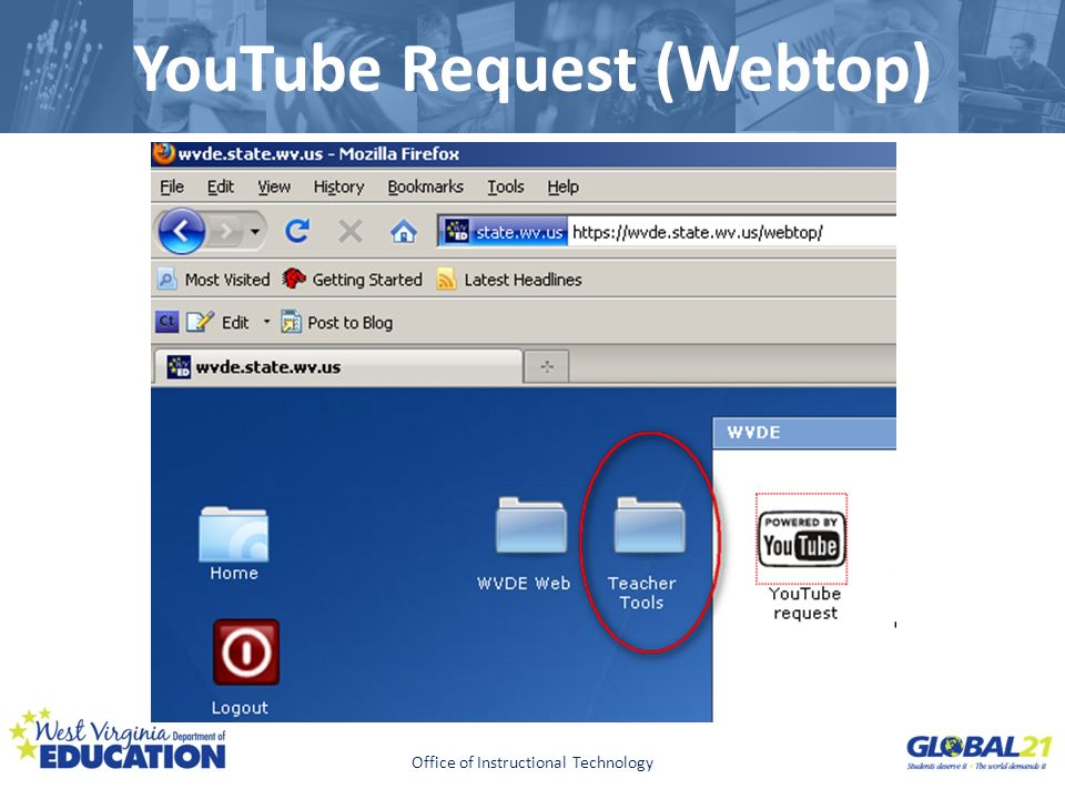 YouTube Request (Webtop)