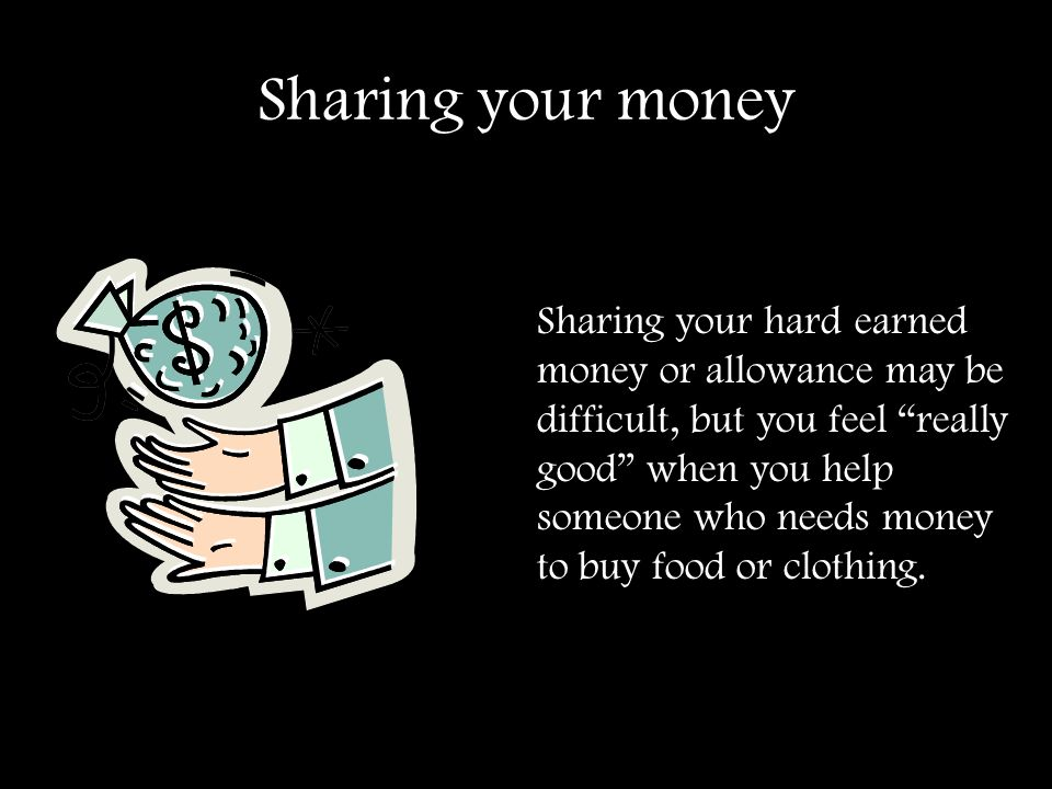 Sharing your money
