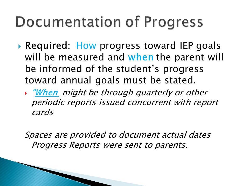 Documentation of Progress