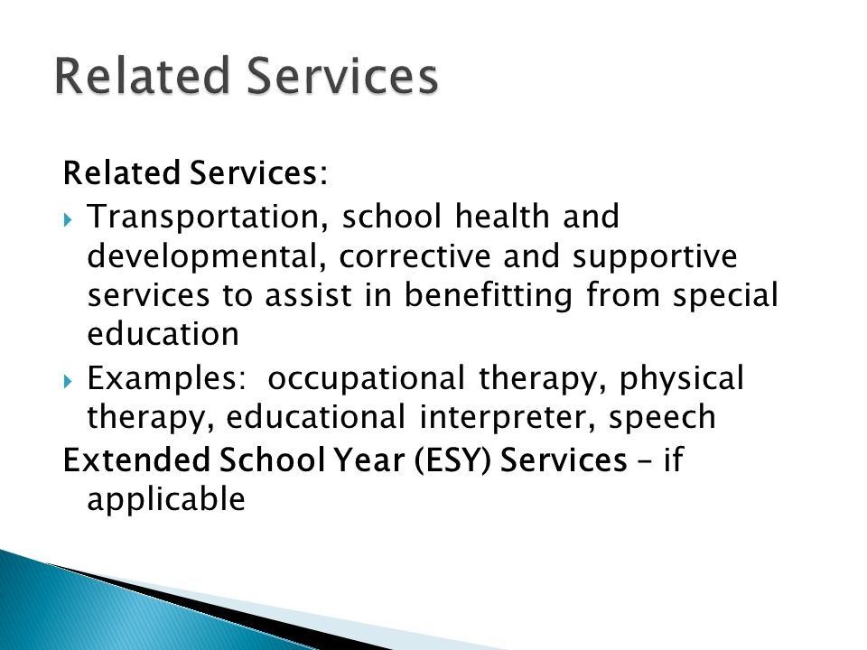 Related Services Related Services: