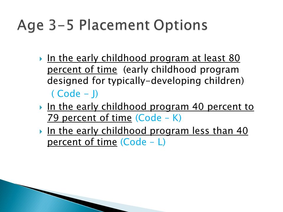 Age 3-5 Placement Options