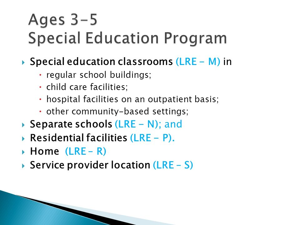 Ages 3-5 Special Education Program