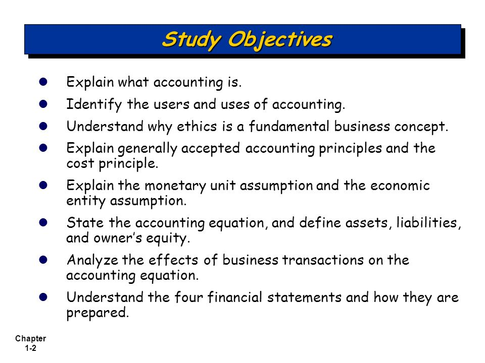 Learn and understand the accounting basics concepts