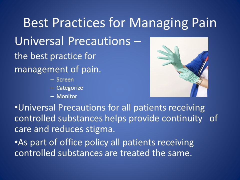 Best Practices for Managing Pain