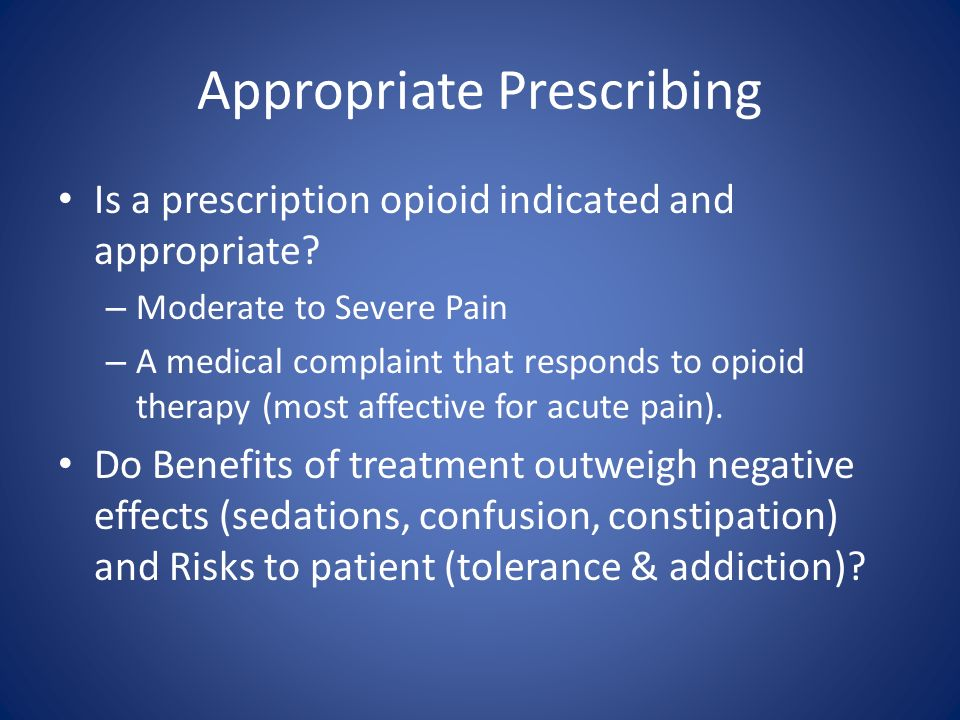 Appropriate Prescribing