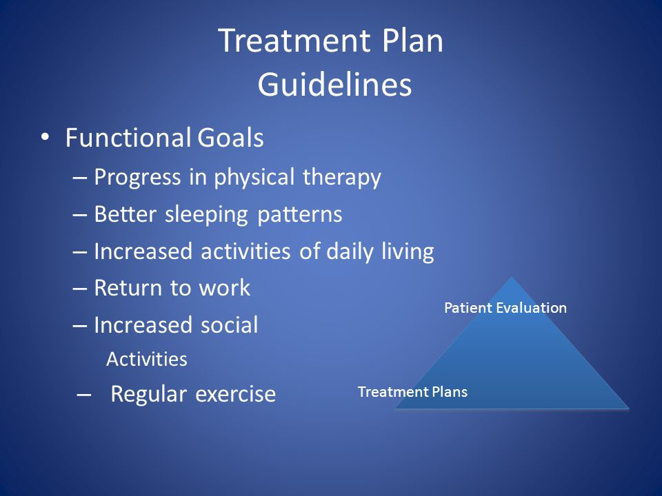Treatment Plan Guidelines