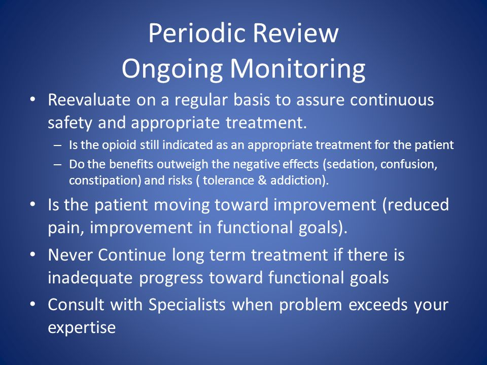 Periodic Review Ongoing Monitoring
