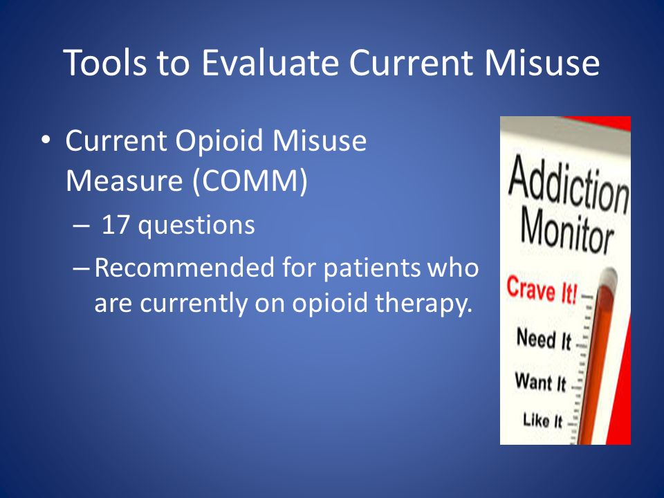Tools to Evaluate Current Misuse