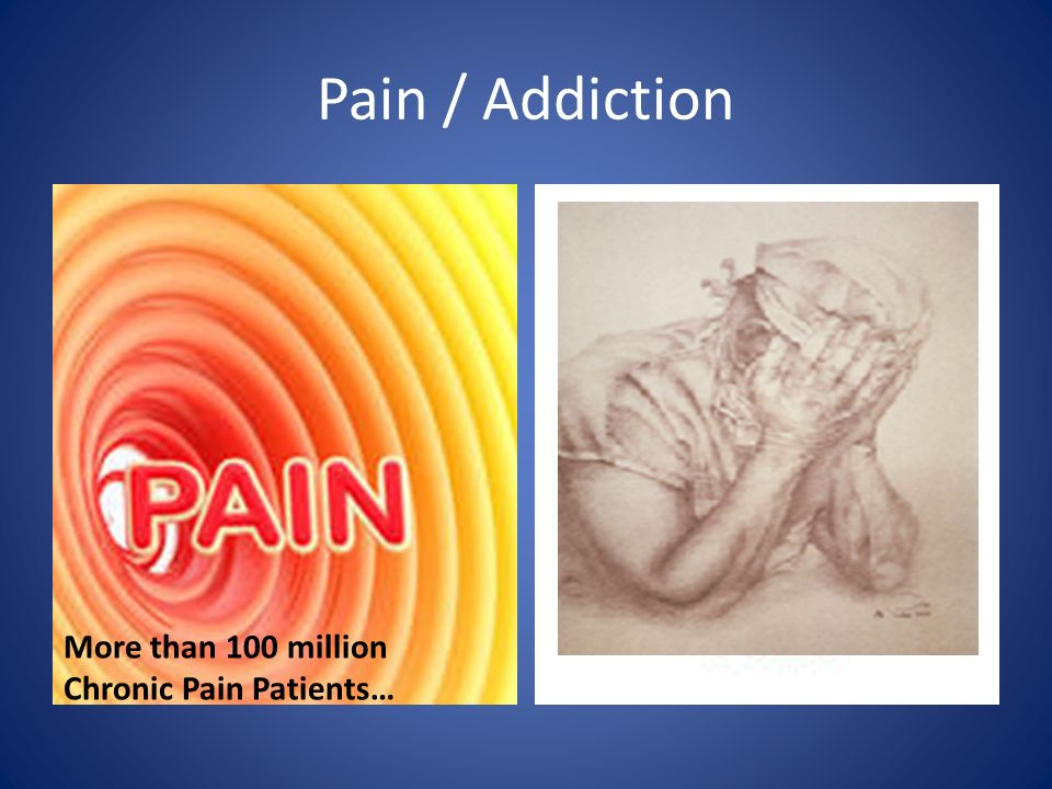 Pain / Addiction More than 100 million Chronic Pain Patients…