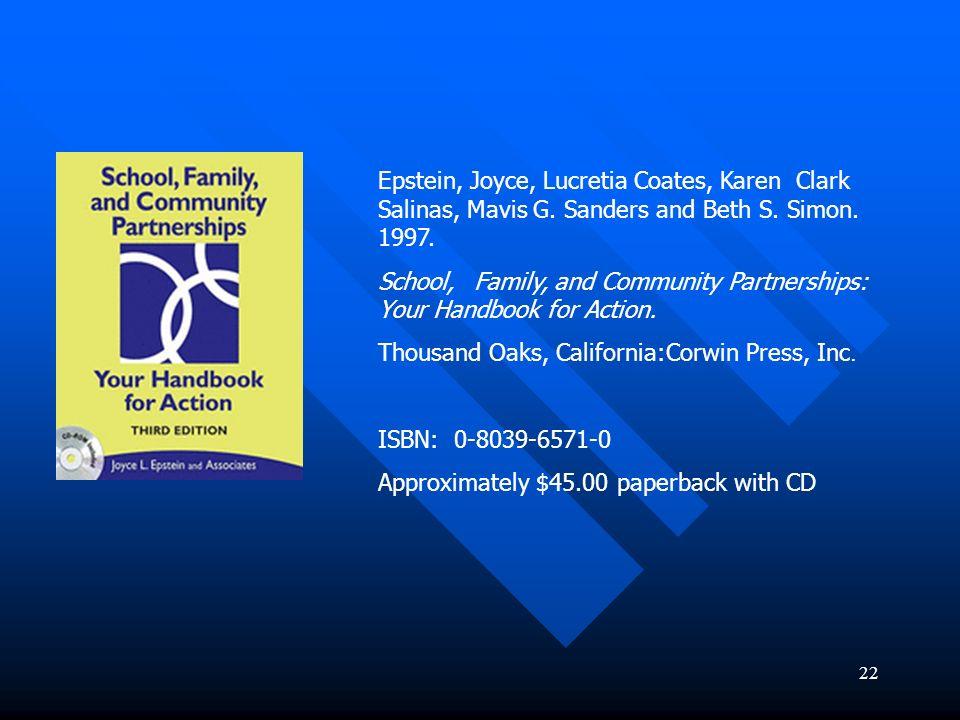 Epstein, Joyce, Lucretia Coates, Karen Clark Salinas, Mavis G