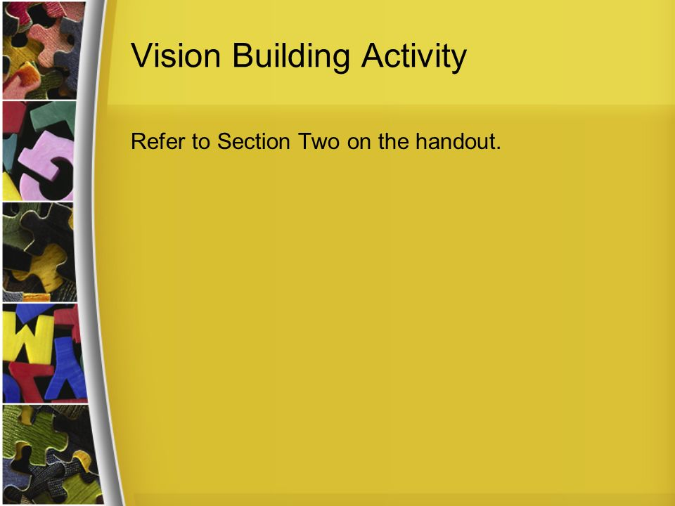 Vision Building Activity