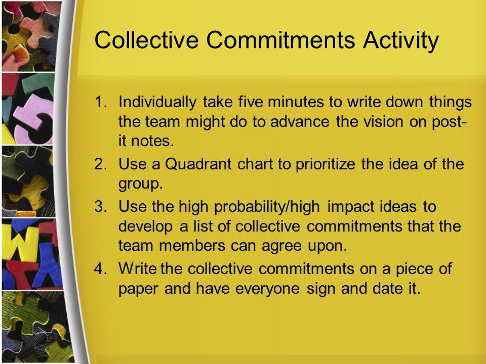 Collective Commitments Activity