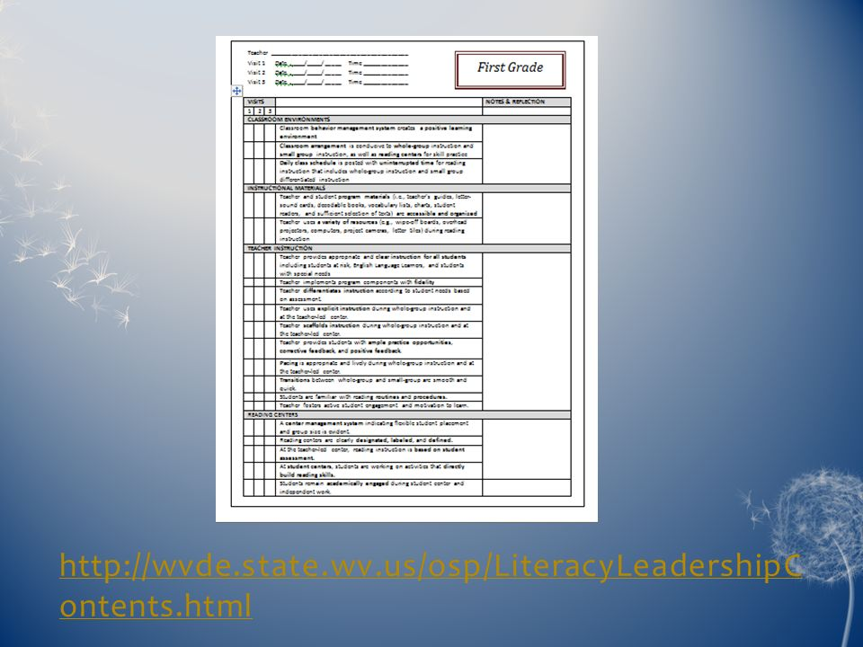 http://wvde.state.wv.us/osp/LiteracyLeadershipContents.html