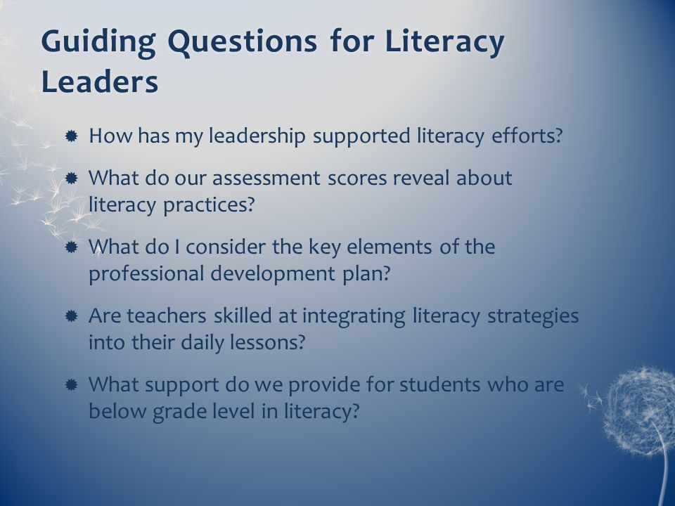 Guiding Questions for Literacy Leaders