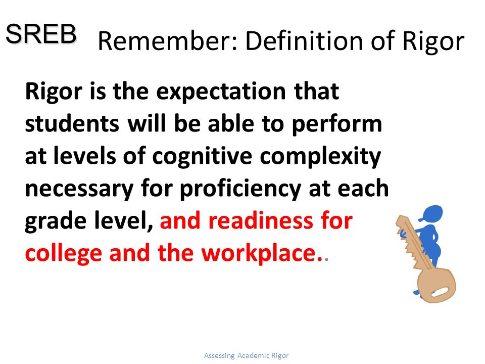 Remember: Definition of Rigor