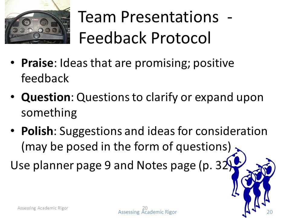 Team Presentations - Feedback Protocol