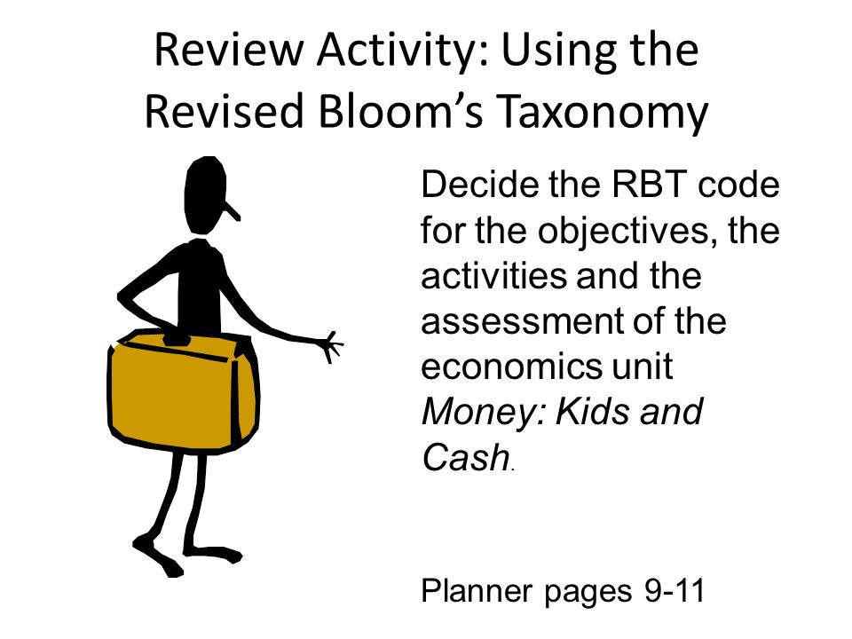 Review Activity: Using the Revised Bloom's Taxonomy
