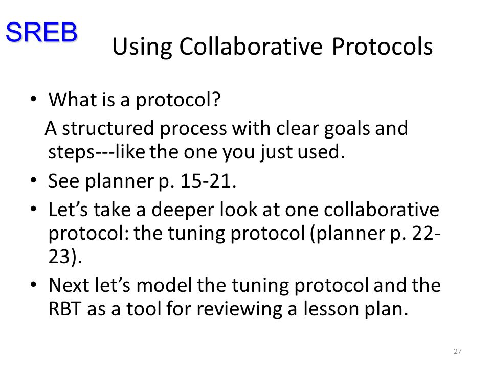 Using Collaborative Protocols