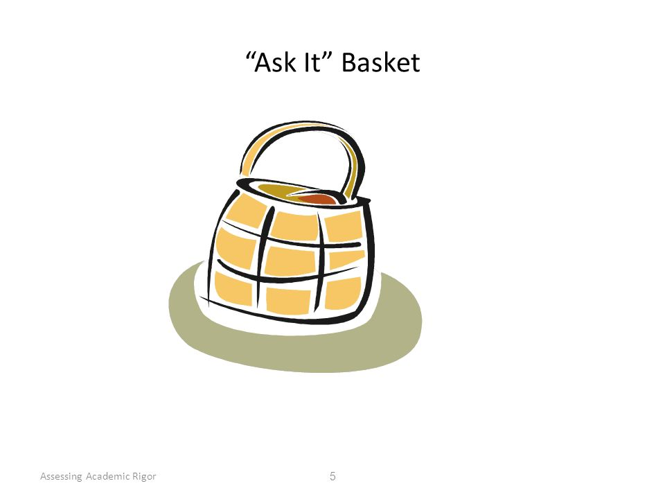 Ask It Basket Assessing Academic Rigor