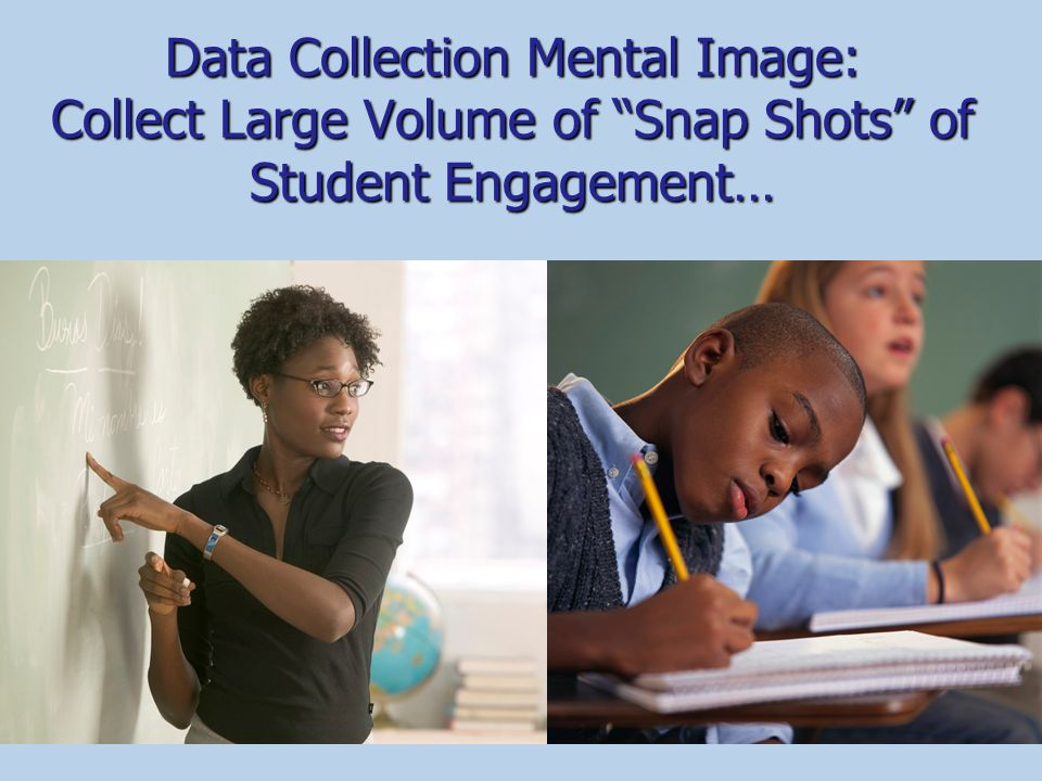 Data Collection Mental Image: Collect Large Volume of Snap Shots of Student Engagement…