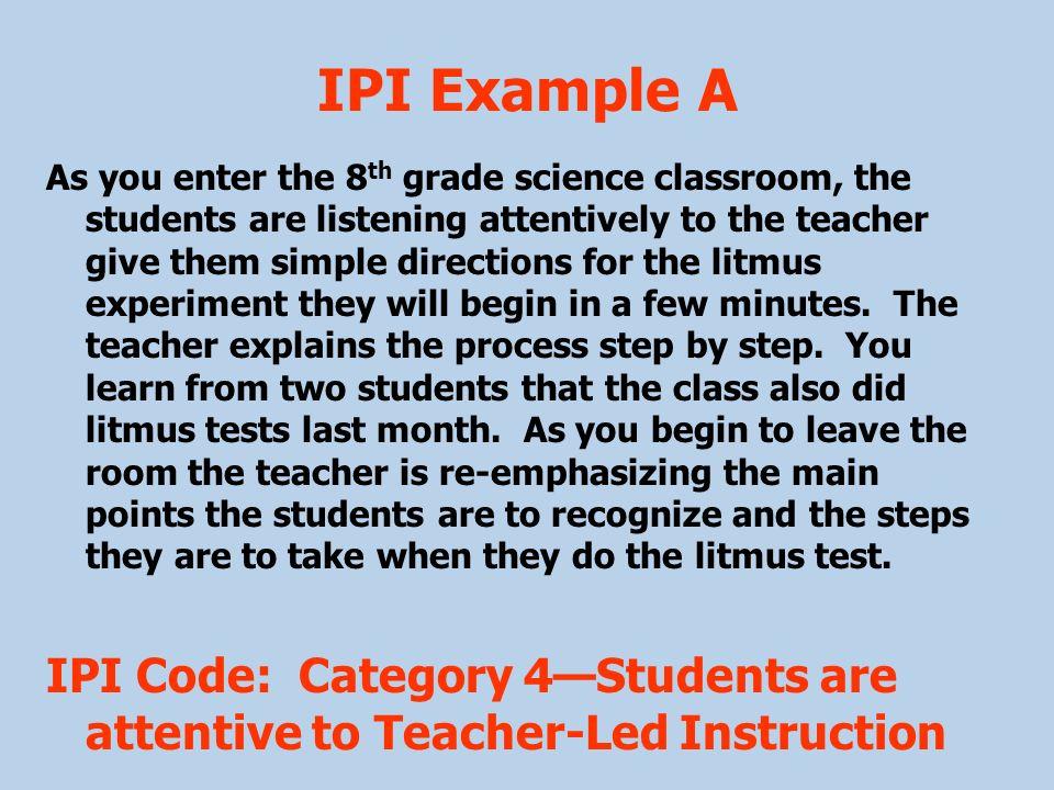 IPI Example A