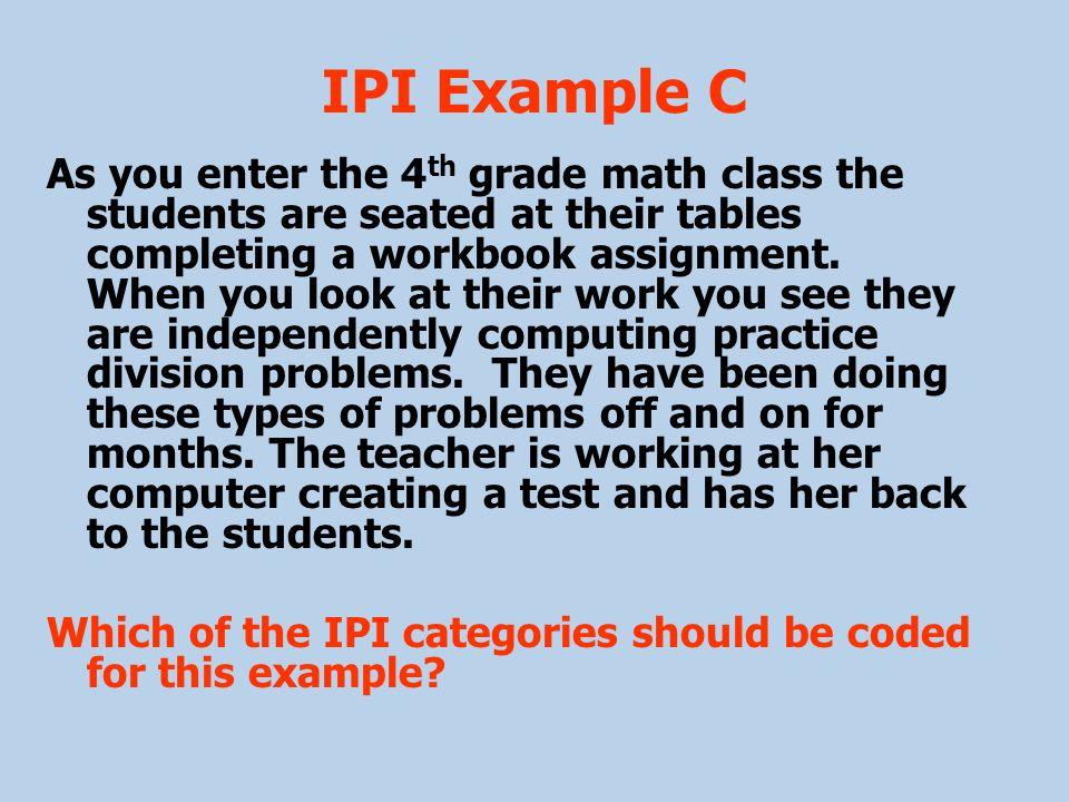 IPI Example C