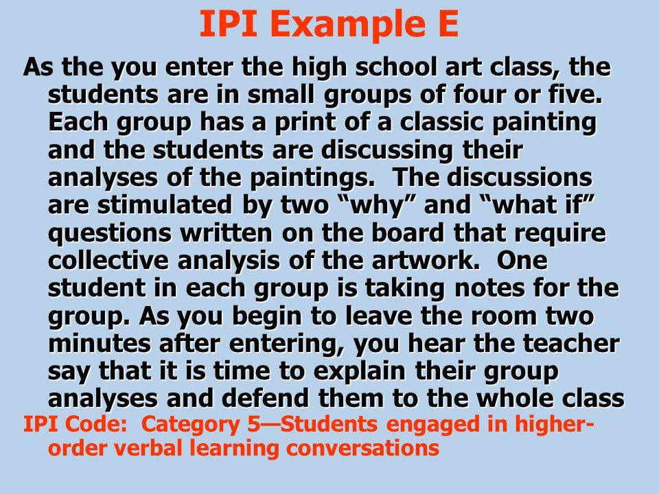 IPI Example E