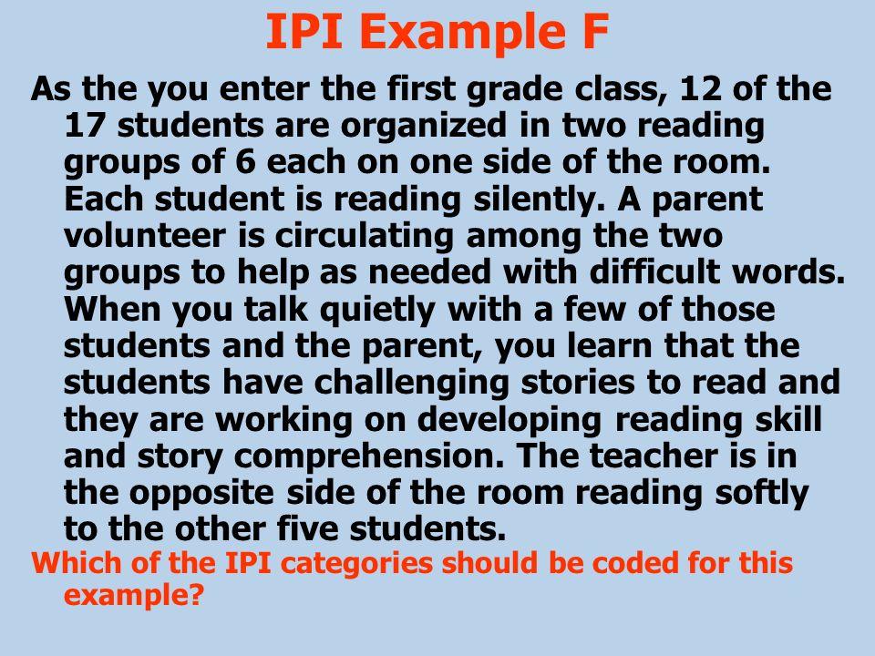 IPI Example F