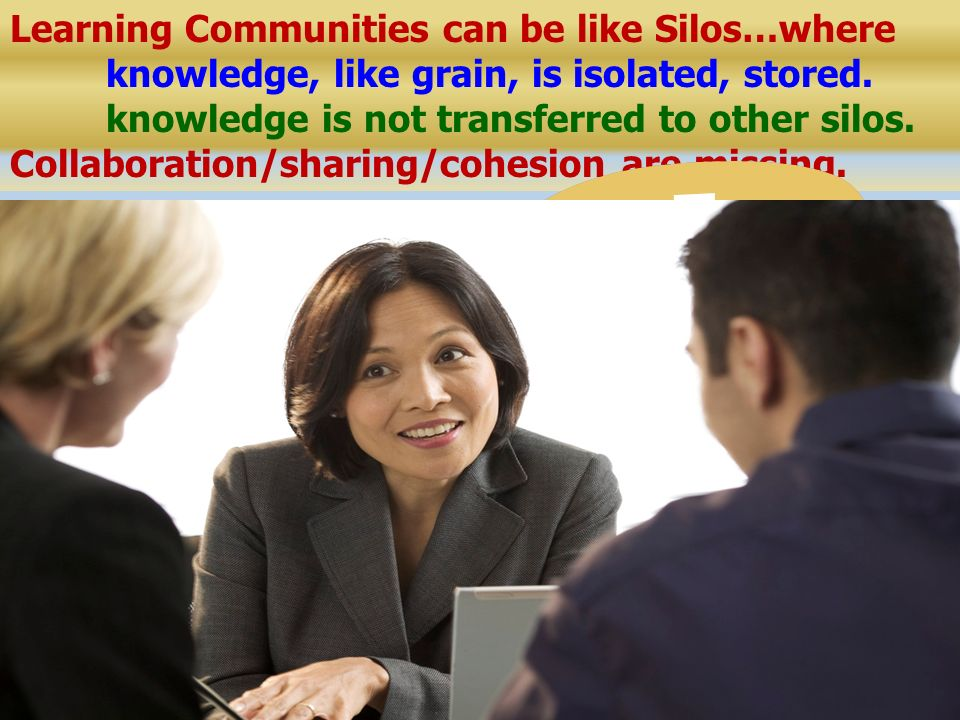 RtI Etc. Learning Communities can be like Silos…where