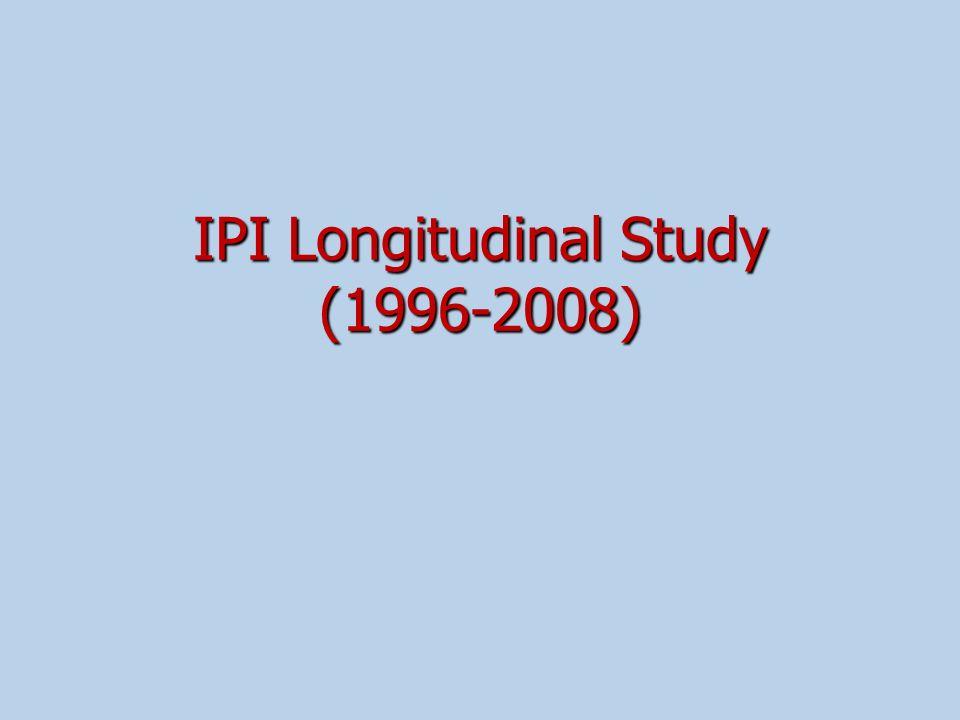 IPI Longitudinal Study (1996-2008)