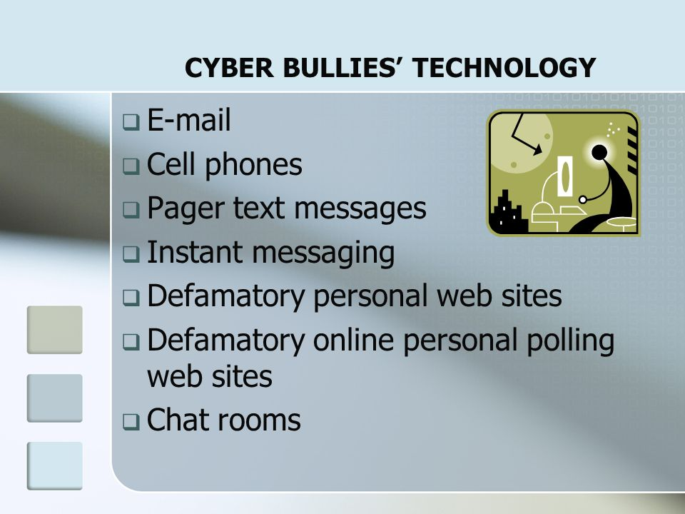 CYBER BULLIES' TECHNOLOGY