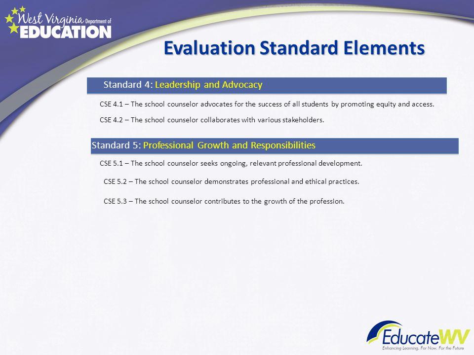 Evaluation Standard Elements