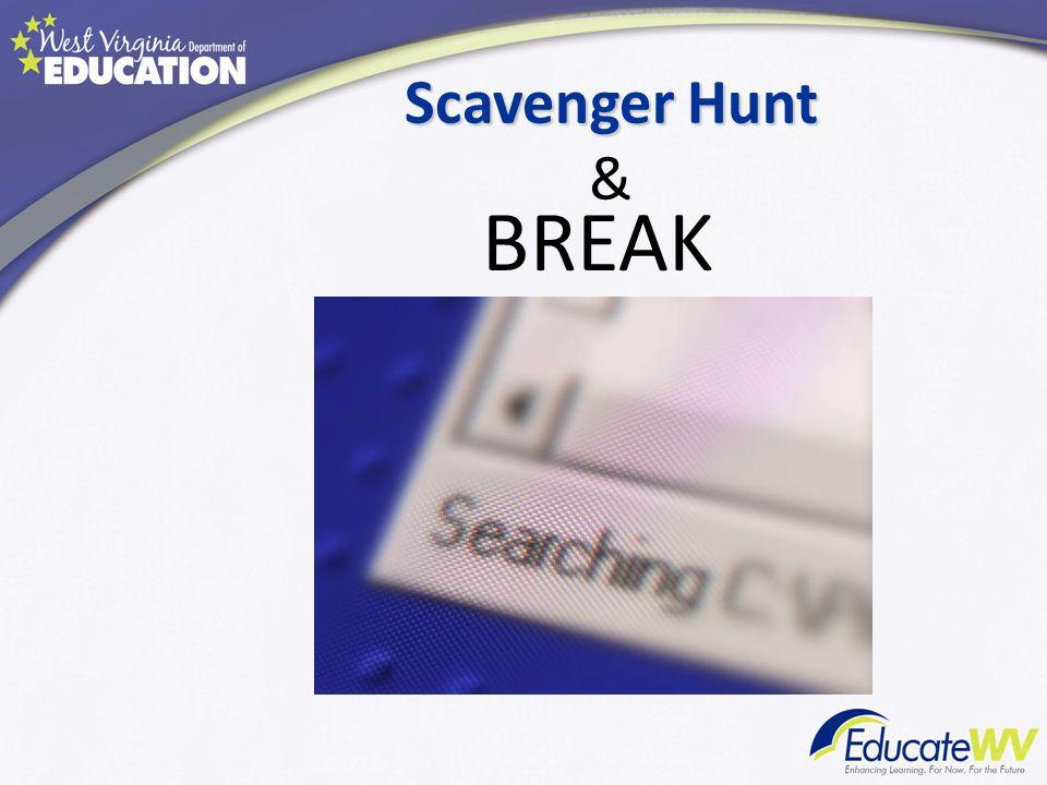 Scavenger Hunt & BREAK