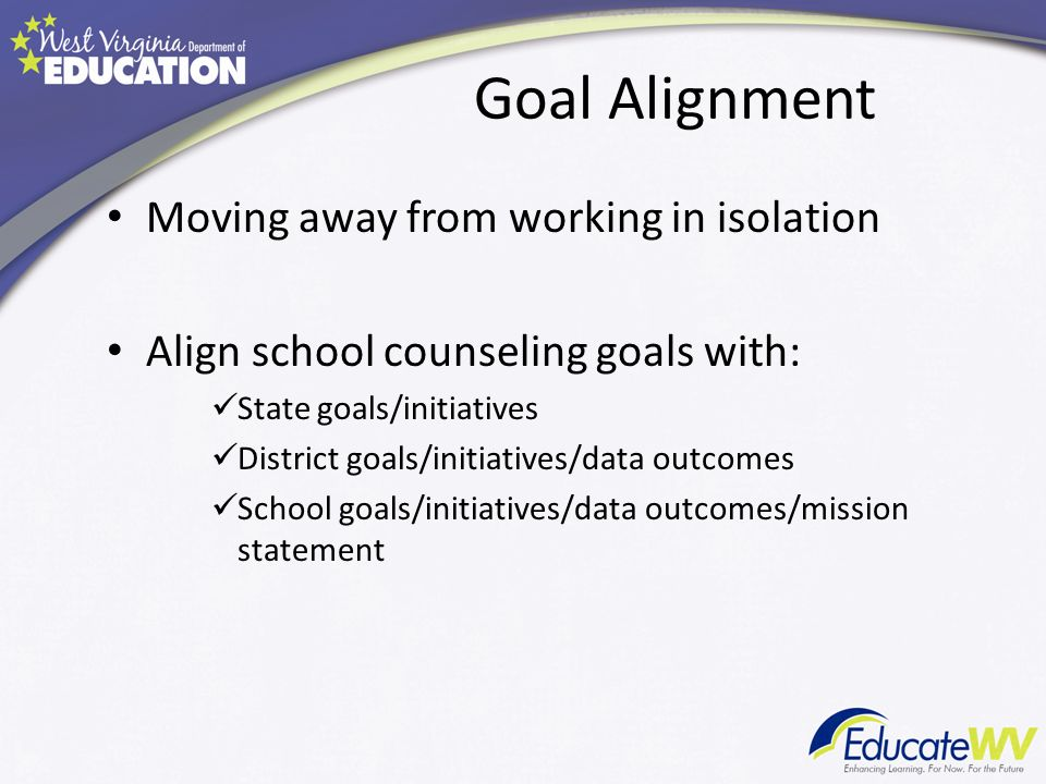Goal Alignment Moving away from working in isolation