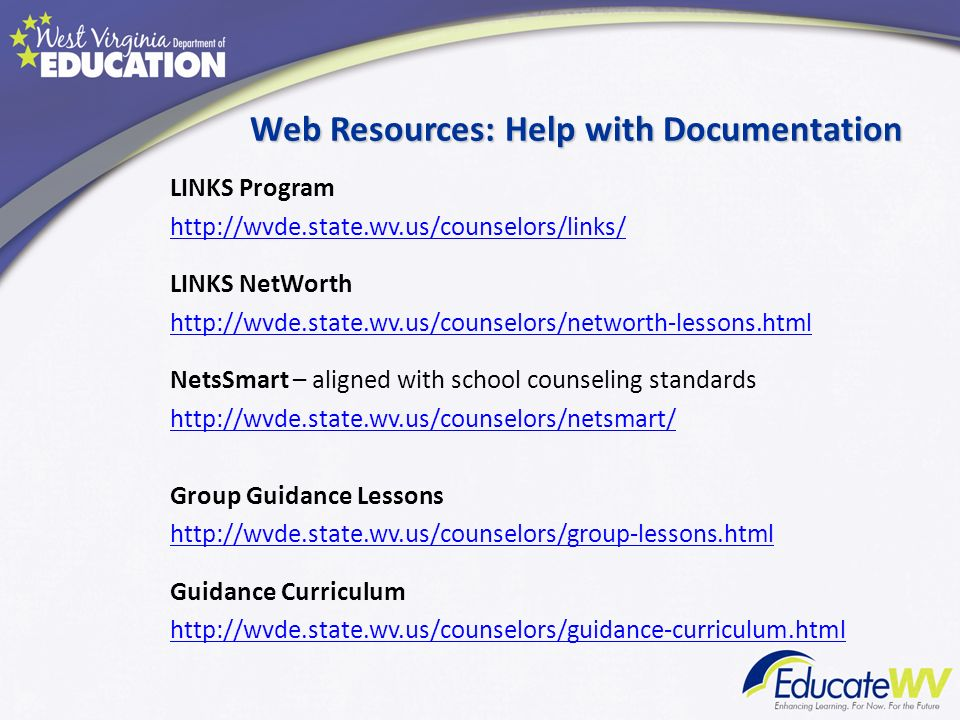Web Resources: Help with Documentation