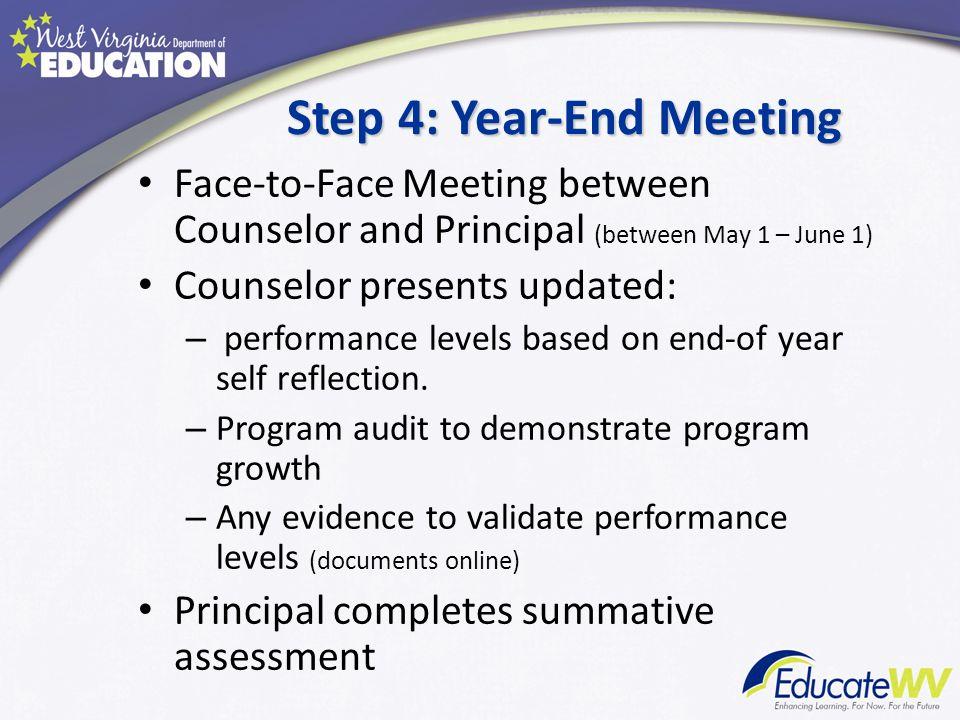 Step 4: Year-End Meeting