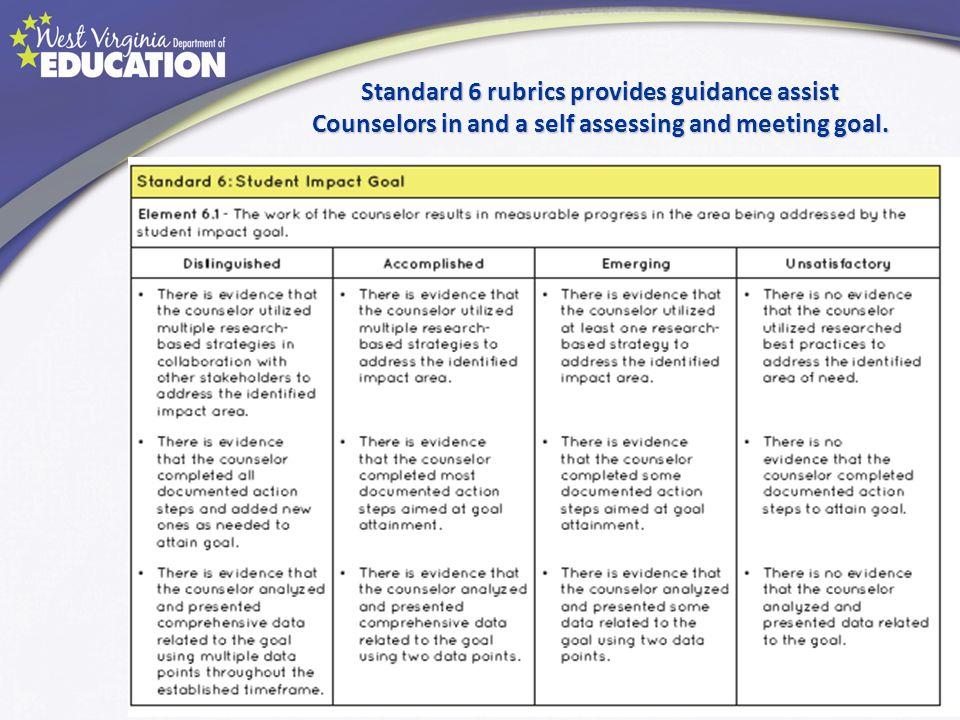 Standard 6 rubrics provides guidance assist