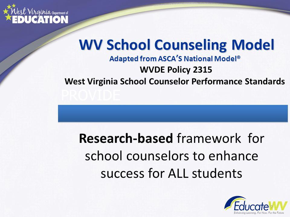 WV School Counseling Model