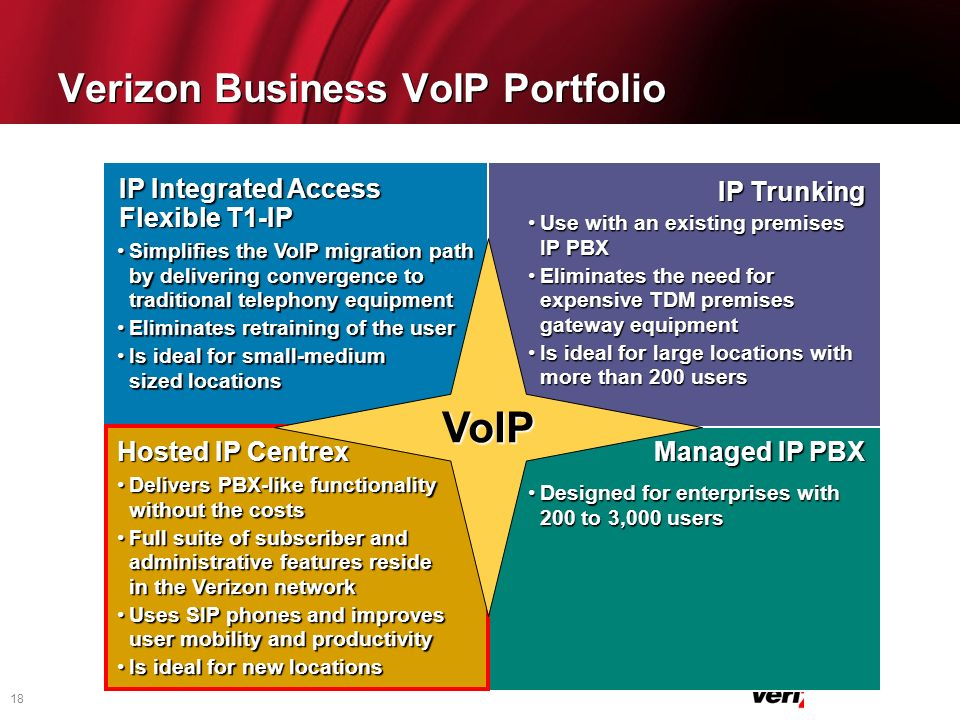 Verizon Business VoIP Portfolio