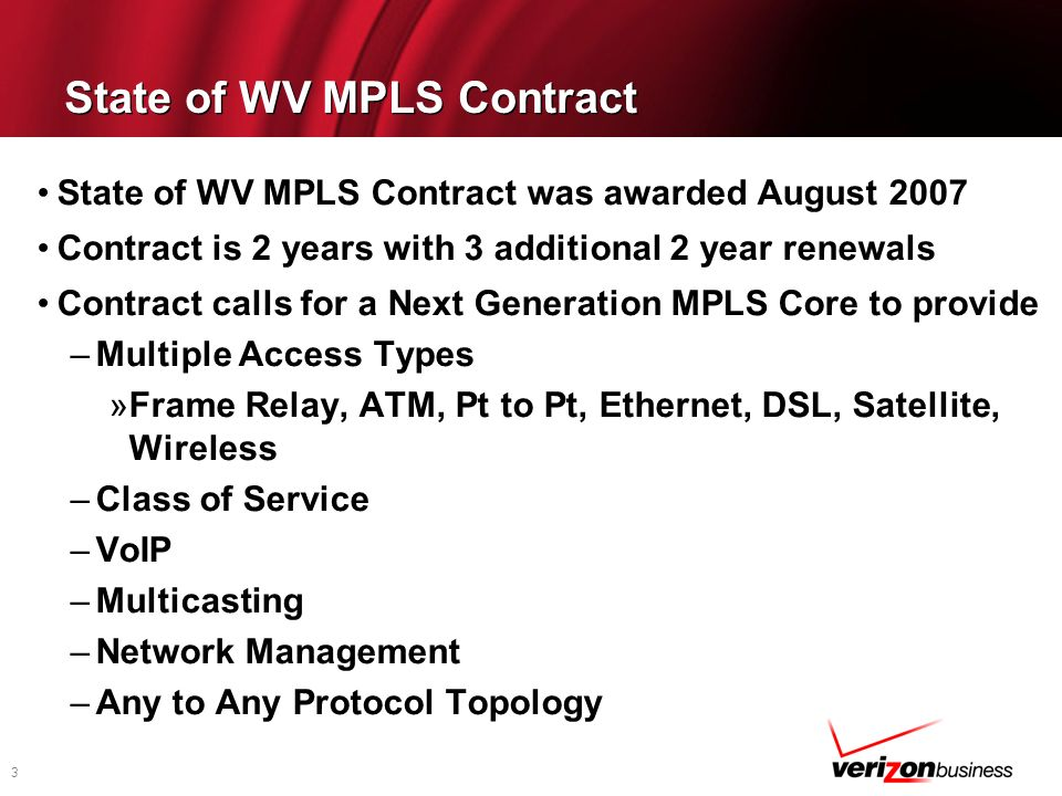 State of WV MPLS Contract