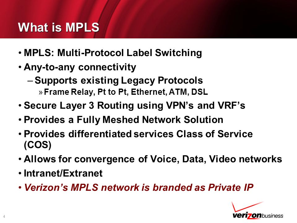 What is MPLS MPLS: Multi-Protocol Label Switching