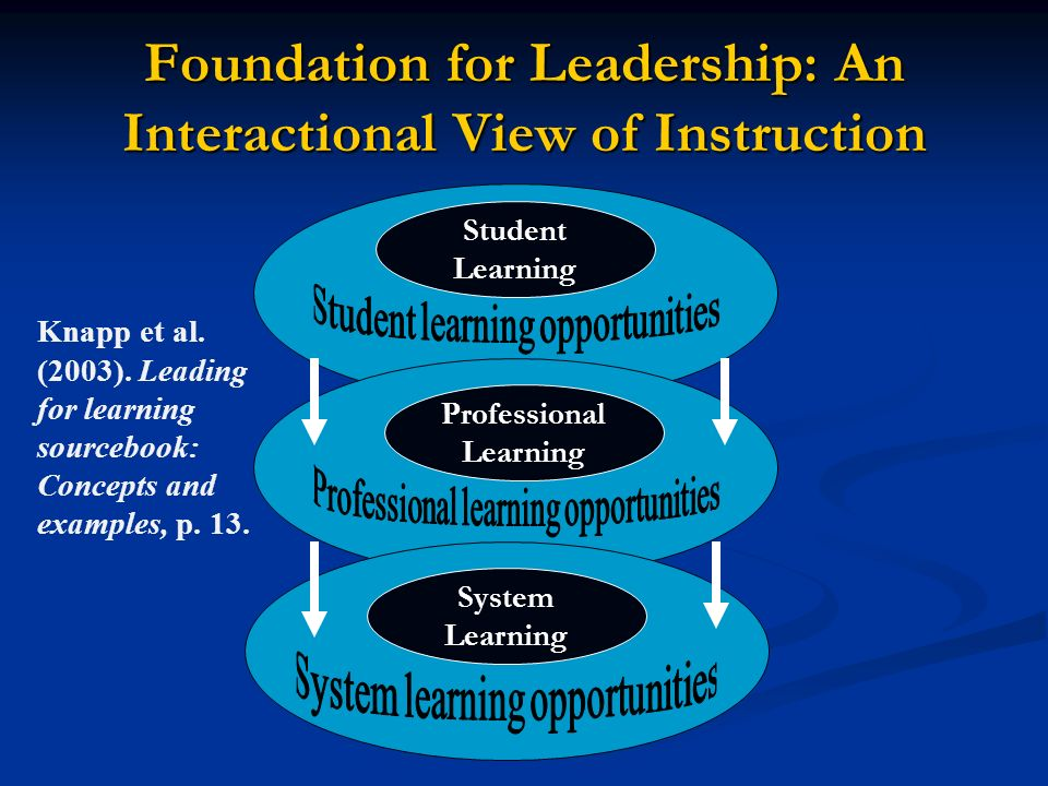 Foundation for Leadership: An Interactional View of Instruction