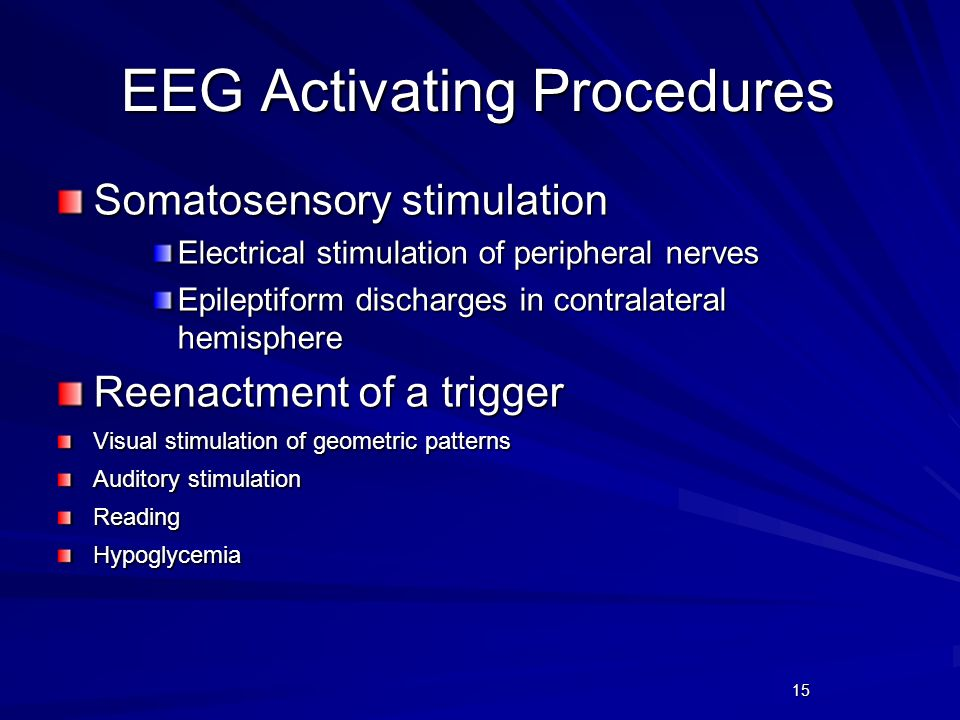 EEG Activating Procedures